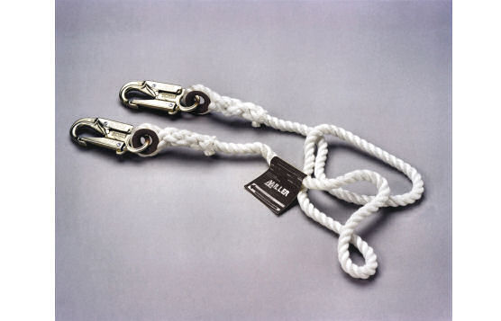 Fixed-Length Rope Lanyard For Attachment To Anchor Point To Limit Movement Within A Defined Radius