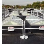 Guardrail Systems Installation Around Rooftop Skylights at Pharmaceutical Manufacturing Plant