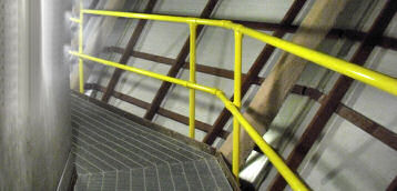 Safety Railings and Access Platforms For Elevated Work Areas