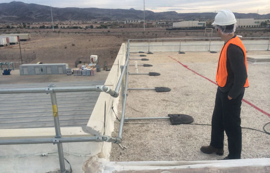 Rooftop Safety Railings For Las Vegas Operations of Major Food Processor