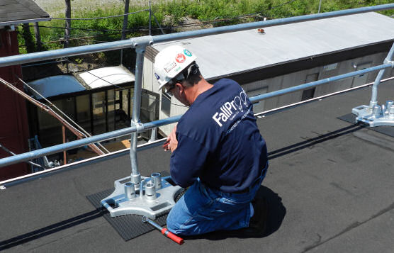 Post-Installation Fittings Inspection on Rooftop Guardrails
