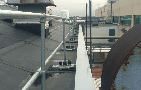 Roof Edge Rail Systems Installation For Major Defense Contractor