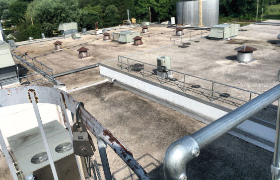 Multi-Level Roof-Edge Fall Protection Railing Installation For Major Defense Contractor