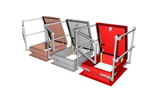 Kee Safety KeeHatch With Grab Bar Rails For Easy Access