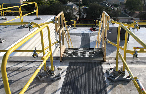 Prefabricated Rooftop Railing For Varying Elevations