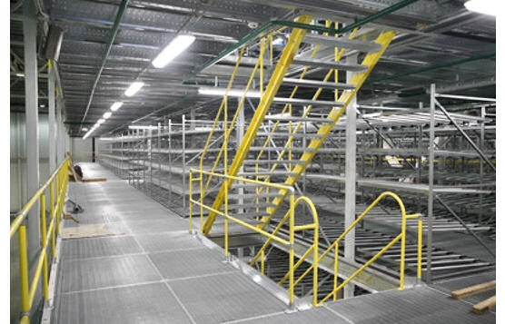 OSHA-Compliant Safety Railings On Mezzanines
