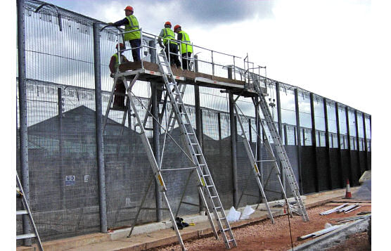 Easi-Dec Access Platforms Scaffold Alternative That Transports In Cargo Van or On Truck Rack