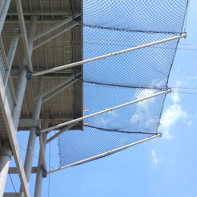 Horizontal Perimeter Safety Net Systems With Cantilevered Outrigger Poles