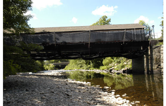 Cantilever Debris Netting On Historic Comstock Covered Bridge, East Hampton, CT