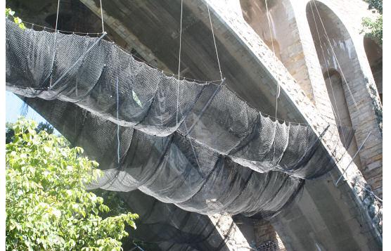Debris Containment Netting on Rehabilitation of Wissahickon Memorial Henry Avenue Bridge, Philadelphia, PA
