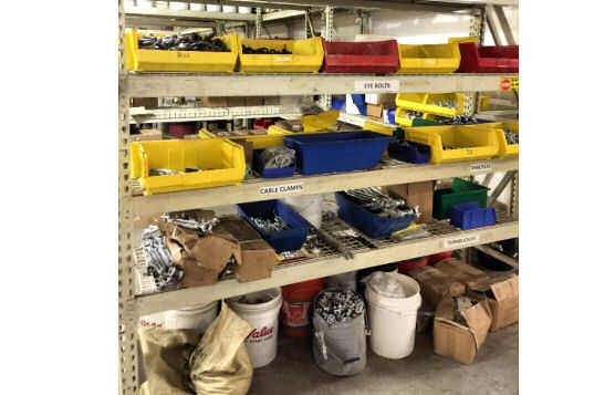 Eye Bolts, Cable Clamps, Turnbuckles, Shackles, and Related Netting Hardware