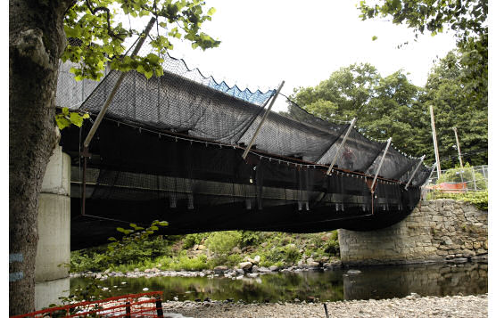 Custom Debris Netting System For Use During Bridge Reconstruction