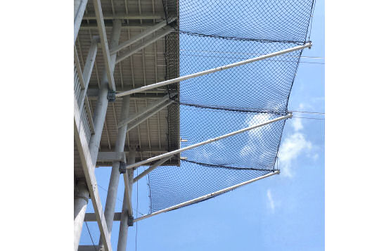 Netting Installation With Custom Attachment Bracket To Support Poles, Zipline Adventures, Myrtle Beach, SC