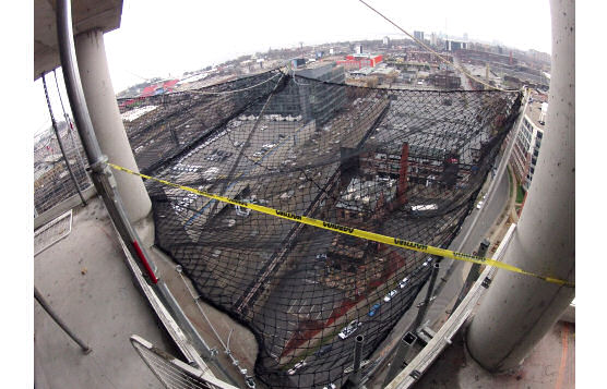 New Construction Netting On 30-Story High-Rise Building