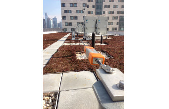 Rooftop Horizontal Cable Lifeline With Pass-Through Capability