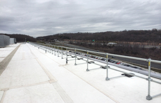 Installation of 3000 Linear Feet of Non-Penetrating Guardrails On Rooftop For Electronics Manufacturer