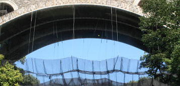 Debris Netting on Historical Bridge