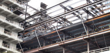 Horizontal Perimeter Netting On High-Rise Construction Projects