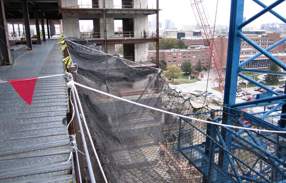 Engineered and Drop-Tested Perimeter Safety Netting System For Rental or Purchase