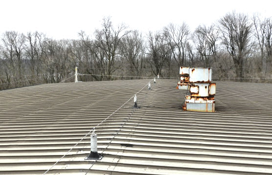 Horizontal Lifeline Installation on Rooftop of Waste-to-Energy Power Plant