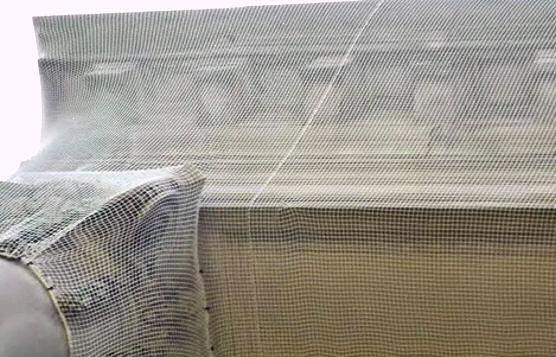 Debris Containment Netting Over Decorative Cornice Molding, Woodrow Wilson Hall, Monmouth University, NJ