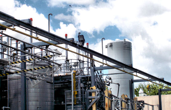 Fixed-Track Lifeline Installation Outside Chemical and Liquid Tank Farm At Major Fragrance and Flavor Company