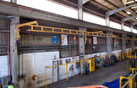 Installation of Five Rigid Lifeline Foldaway Systems At Mexico Facility For U.S. Infrastructure Equipment Manufacturing Company