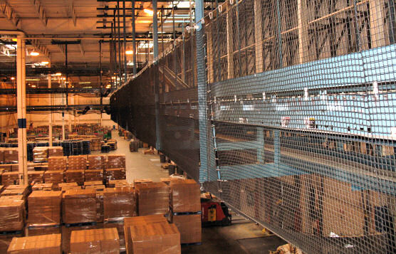 Conveyor Belt Safety Netting System Installation For Distribution Center of Pharmaceutical Company