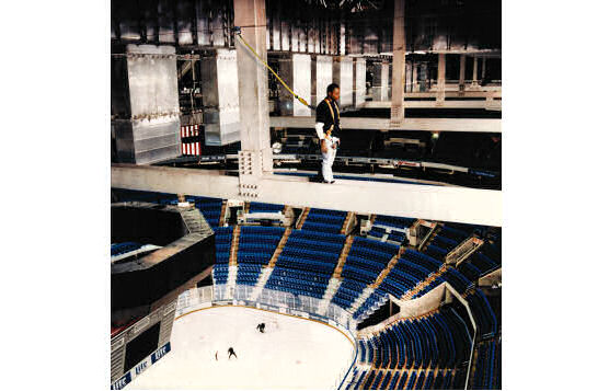 Sports Arena Fall Protection Systems on Catwalks