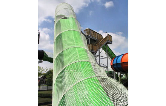 Amusement Park Safety Netting System