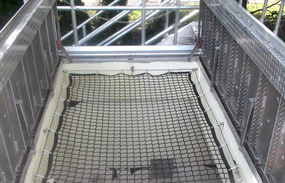 Safety Netting Installation Over Hatch at New Jersey Wastewater Treatment Plant