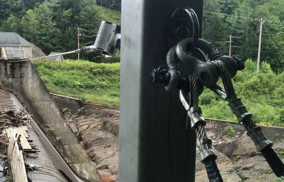 Horizontal Cable Lifeline Installation at Dam/Hydroelectric Plant In Upstate Vermont
