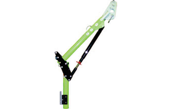Adjustable Davit Arm For Range and Flexibility During Restricted Overhead Clearance