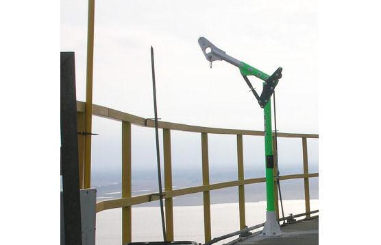 Power Plant Permanent Davit Arm Installation to Retrieve Injured or Fallen Worker