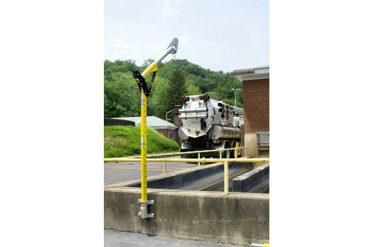 Permanent Concrete-Mounted Davit Arm For Wastewater Holding Tank or Other Confined Area