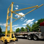 Portable Fixed Track Lifeline Mounted on Steel Frame With Wheels or Movable By Forklift, Offers Versatile Temporary Solution For When Workers Must Clean, Paint or Perform Maintenance