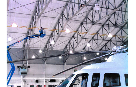 Horizontal Lifeline At Aircraft Hangar at Airport Rated For Two Users, Trenton, NJ