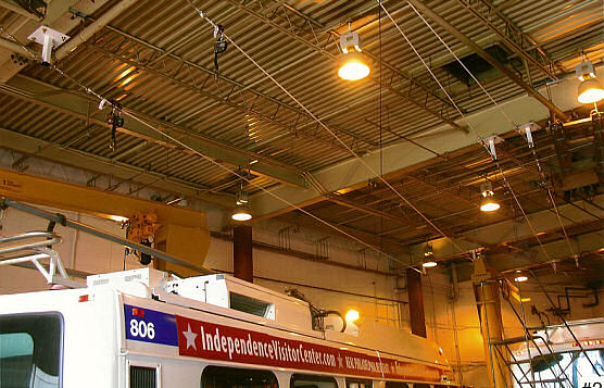 Non-conductive Fall Protection Lifeline in Bus Bay of Major Transportation Provider, Philadelphia, PA