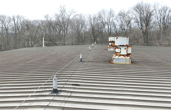 Horizontal Lifeline on Rooftop With Stainless Steel Components For Harsh Weather, Energy Company, Bainbridge, PA
