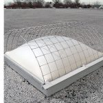 Galvanized Steel and Metal Screen Cover Over Skylight Dome