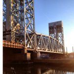 Railroad Bridge Netting Installation Combined With Horizontal Personnel Netting