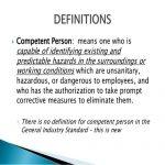 Competent Person Definition OSHA