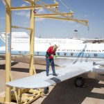 Griffin Portable Access Platforms With Fixed Track Fall Protection System For Work Above Aircraft or Helicopters