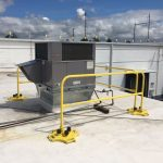Non Penetrating Guardrails provide protection on rooftops and other elevated working surfaces